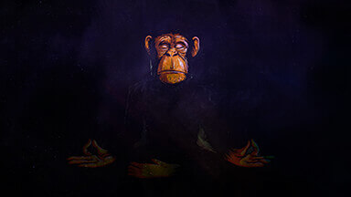 Space Chimp Google Background