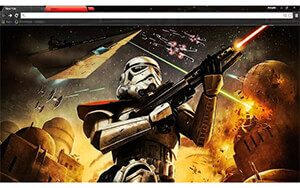 Star Wars Trooper Chrome Theme