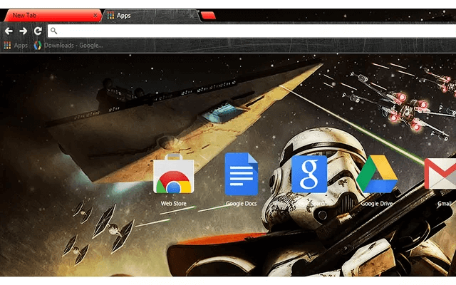 Custom Star Wars Trooper Google Chrome Theme