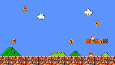 Super Mario Bros Google Background
