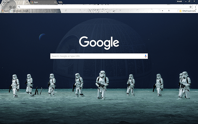free star wars rogue one google chrome theme for download
