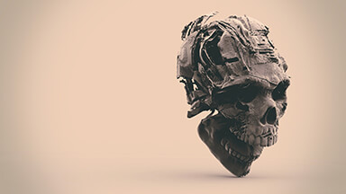 Textured Skull Chromebook Wallpaper