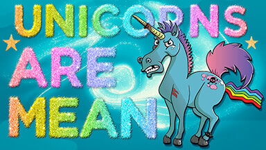 Unicorns Are Mean Google Background
