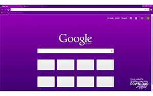 Vivacious Purple Chrome Theme