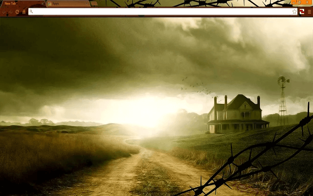 Free Walking Dead Farmhouse Google Chrome Theme