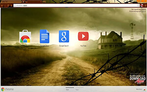 Walking Dead Farm House Chrome Theme