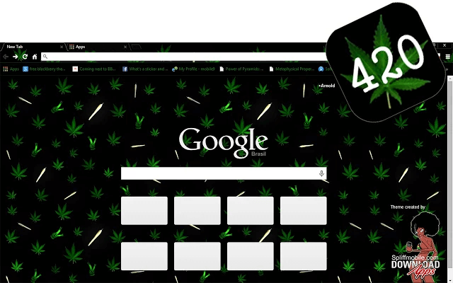 Free Weed 420 Google Chrome Theme