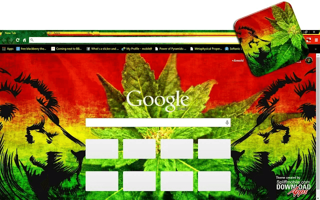 Weed Lions Google Theme