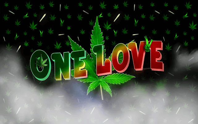Weed One Love - HD Background