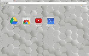 White Hex Chrome Theme