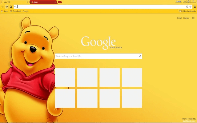 free winnie the pooh google chrome theme for download