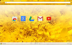 Yellow Flowers Chrome Theme
