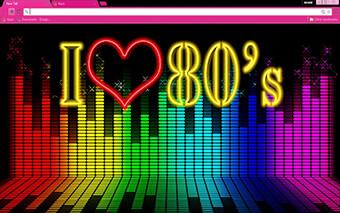 80s Music Google Chrome Theme