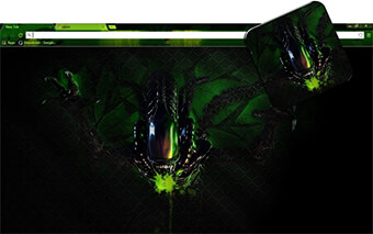 Alien Google Chrome Theme