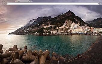 Amalfi Bay Google Chrome Theme