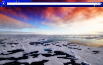 Arctic Sea Ice Google Chrome Theme