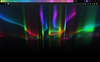 Aurora - Multi Color Tabs Google Chrome Theme