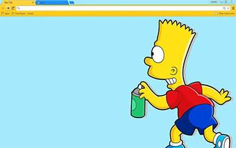 Bart Simpson Google Chrome Theme