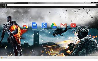 Battlefield 4 Google Chrome Theme
