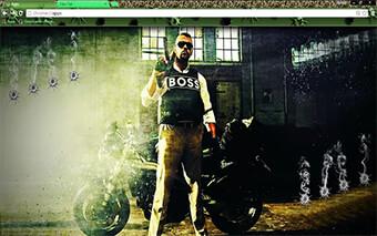 Battlefield Hardline Boss Google Chrome Theme