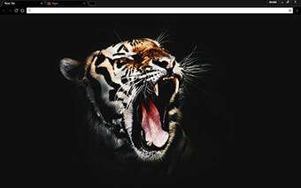 Black Tiger Google Chrome Theme