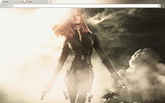 Black Widow Google Chrome Theme