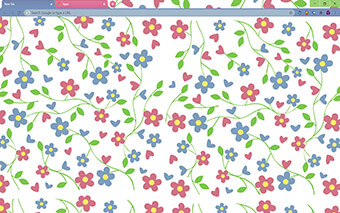 Blossoms of Love Google Chrome Theme