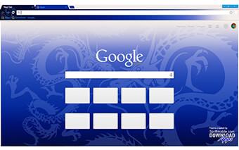 Blue Dragon Google Chrome Theme