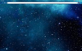 Blue Galaxy Stars Google Chrome Theme