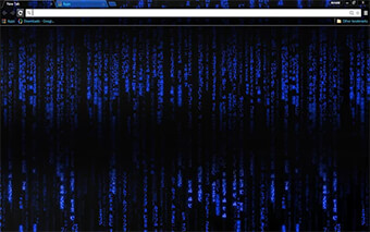 Blue Hacker Google Chrome Theme