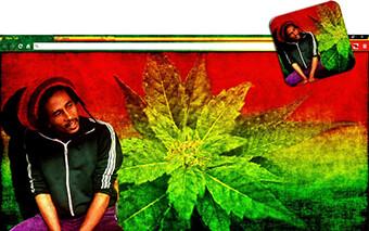Bob Marley Tribute Google Chrome Theme