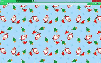 Cartoon Santa Claus Google Chrome Theme