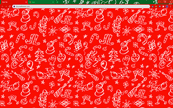Christmas Doodles Google Chrome Theme