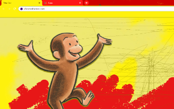 Curious George Monkey Google Chrome Theme
