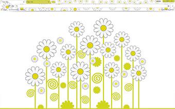 Daisies Google Chrome Theme