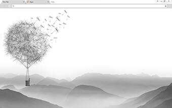 Dandelion Valley Google Chrome Theme