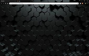 Dark Hexahedron Google Chrome Theme