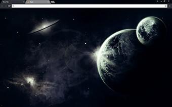 Dark Space Google Chrome Theme