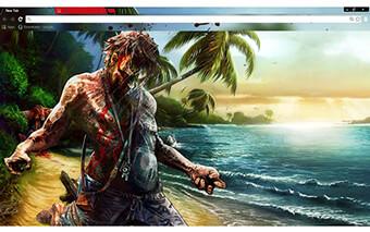 Dead Island Google Chrome Theme