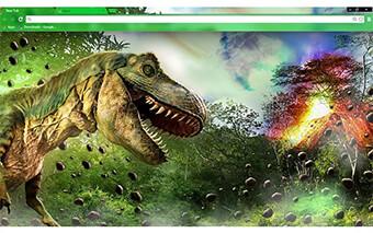 Dinosaur Google Chrome Theme