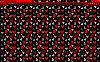 Drawn Hearts: Red & Black Google Chrome Theme