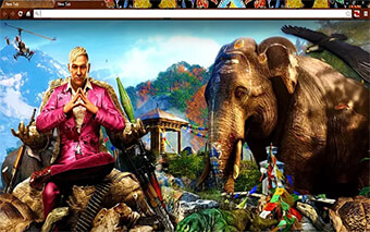 Far Cry 4 Wild Edition Google Chrome Theme