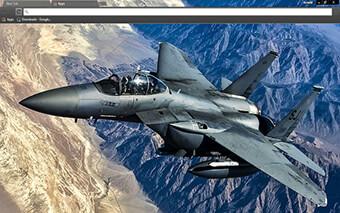 Fighter Jet Google Chrome Theme
