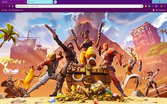 Fortnite Gamer Google Chrome Theme