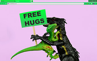 Free Hugs Google Chrome Theme