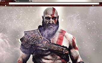 God Of War Google Chrome Theme