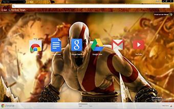 God Of War Hd Google Chrome Theme