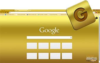 Gold Google Chrome Theme