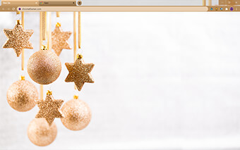 Golden Christmas Google Chrome Theme