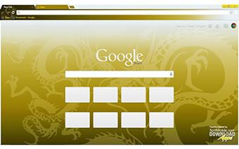 Golden Dragon Google Chrome Theme